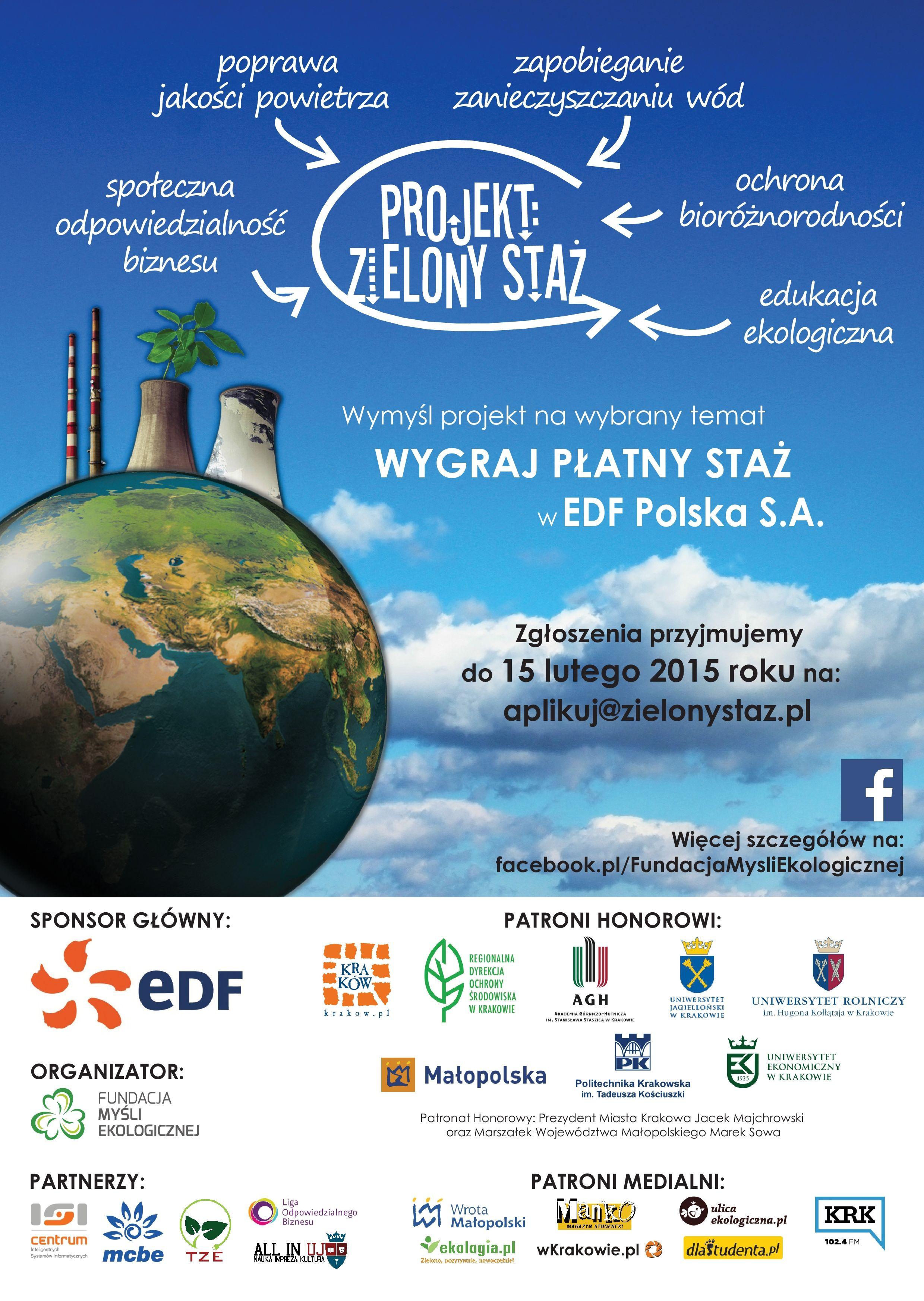 Plakat_II_Projekt_Zielony_Staz